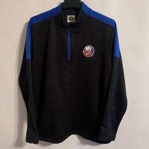 NHL NY Islanders Black & Blue Half ZIP Pullover L